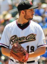 Sacramento River Cats Pitcher Bruce Billings (6 IP / 4 H / 1 ER / 3 BB / 3 K / Win)