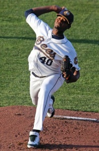 Beloit Snappers' Pitcher Raul Alcantara (7 IP / 1 H / 0 ER / 0 BB / 3 K / Win)