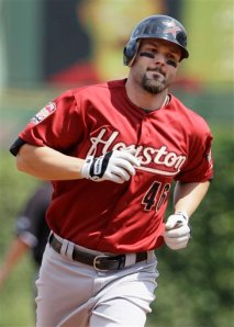 Sacramento River Cats' Third Baseman Scott Moore (Home Run / 3 RBIs)