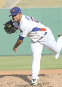 Midland RockHounds Pitcher Carlos Hernandez (8 IP / 2 H / 1 ER / 1 BB / 10 K / Win)